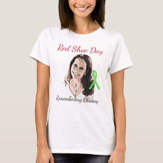 Camiseta Recordando Chrissy para o dia vermelho dos