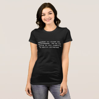 Camiseta Recorde fechar todo o parêntese