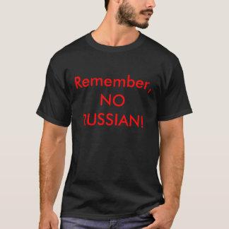 Camiseta Recorde, NENHUM RUSSO!