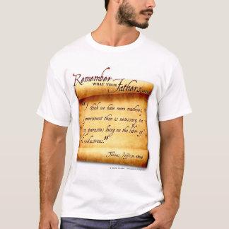 Camiseta Recorde o que seus pais disseram: Thomas Jefferson