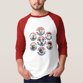 Camiseta Recorde o t-shirt do raglan de Kennedy