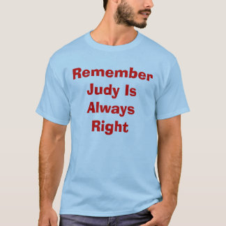Camiseta Recorde que Judy é sempre direito