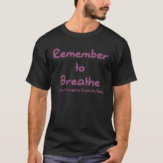 Camiseta Recorde respirar (o rosa)