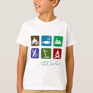 Camiseta Recreação da lagoa de Neal