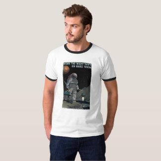 Camiseta Recrutamento de Marte - t-shirt do turno da noite