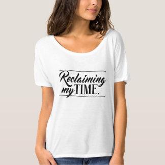 """Camiseta """"Recuperando meu tempo"""" político"""