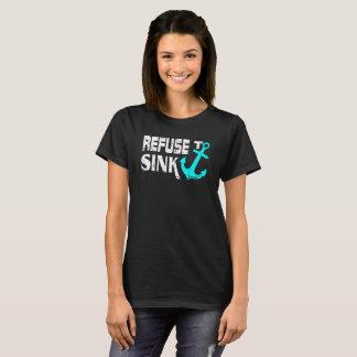 Camiseta Recusa para afundar o cruzeiro da âncora
