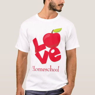Camiseta Red Apple Love Homeschool