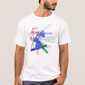 Camiseta red_blue_green no videotape