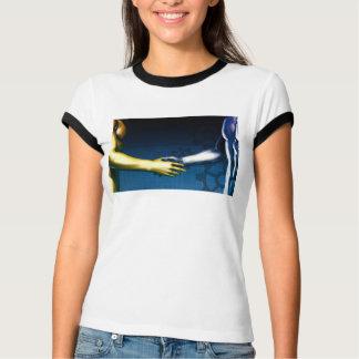 Camiseta Rede da integração do negócio com agitação das