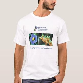 Camiseta Rede da pesquisa da genciana