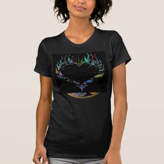 Camiseta Redemoinho da parte superior do coração de