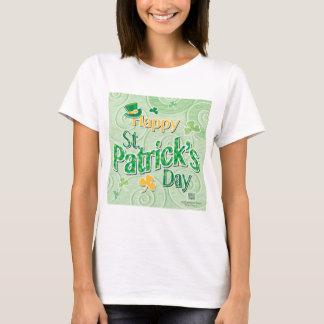 Camiseta Redemoinhos do verde & chapéu do Leprechaun, o dia