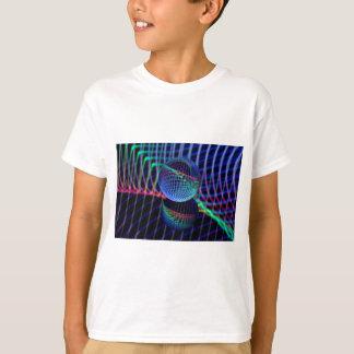 Camiseta Redemoinhos e linhas na bola de vidro