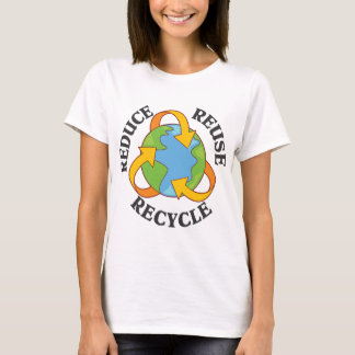 Camiseta Reduza o reciclar reusar