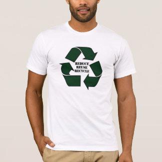 Camiseta Reduza o Twofer do reciclar reusar das senhoras