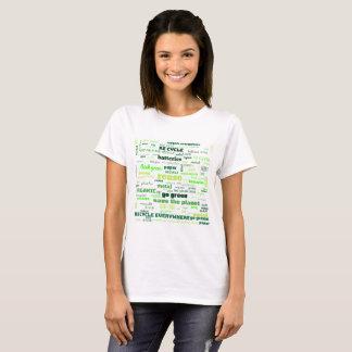 Camiseta Reduza, reúso, recicl a nuvem da palavra