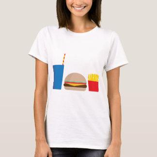 Camiseta refeição do fast food