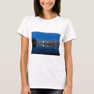 Camiseta Reflexão azul da hora de Vancôver BC
