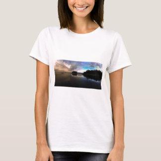 Camiseta Reflexão do por do sol da praia do rubi