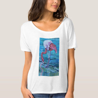Camiseta Reflexões cor-de-rosa