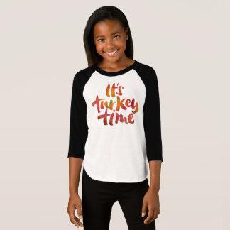 Camiseta Refrigere colorido seu comensal da acção de graças