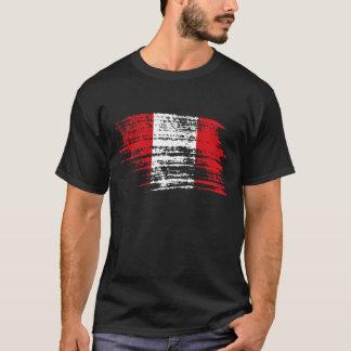 Camiseta Refrigere o design peruano da bandeira