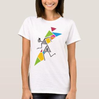 Camiseta Refrigere o t-shirt tribal de Warli - dança &