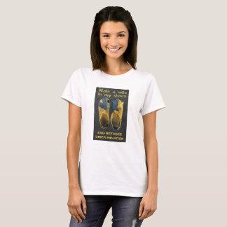 Camiseta Refugiados do apoio
