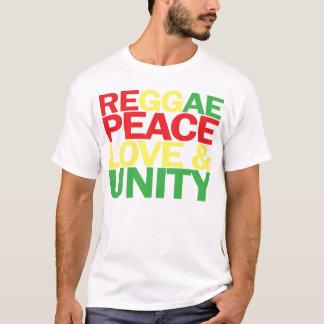 Camiseta Reggae. Paz, amor & unidade