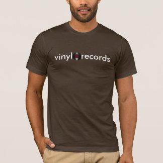 Camiseta registros de vinil retros de LP da música