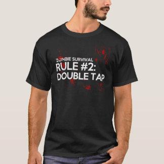 Camiseta Regra 2 da sobrevivência do zombi: Torneira dobro
