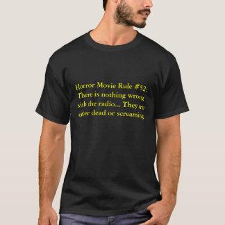 Camiseta Regra #52 do filme de terror: Não há nada wi do