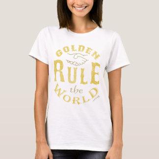 Camiseta Regra de ouro do vintage do t-shirt das senhoras o