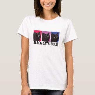 Camiseta REGRA dos gatos pretos! T cabido senhoras