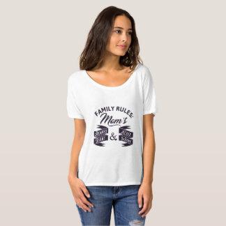 Camiseta Regras da família: Da mãe direito e nunca erro