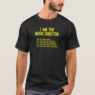 Camiseta Regras do director musical