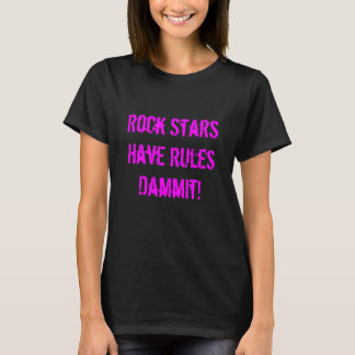 Camiseta Regras do t-shirt das mulheres das estrelas do