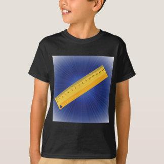 Camiseta régua de madeira