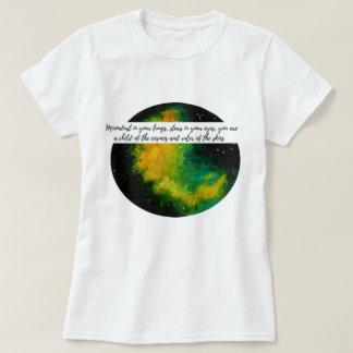 """Camiseta """"Régua t-shirt original do design dos céus"""""""