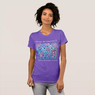 Camiseta Regue-me com as flores