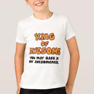Camiseta Rei da criança impressionante