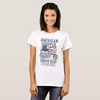 Camiseta Rei da motocicleta patriótica americana da estrada