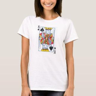 Camiseta Rei das pás afligidas/estilo do vintage
