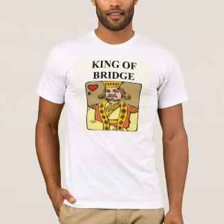 Camiseta rei do jogador do jogo da duplicata da ponte
