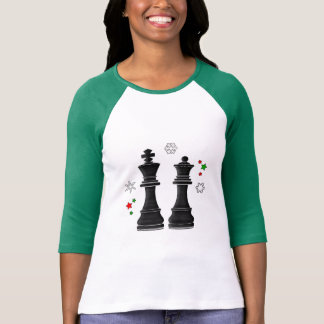 Camiseta Rei e rainha da xadrez no Natal