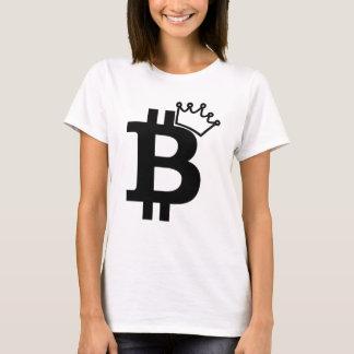 Camiseta Rei Preto Logotipo Projeto de Bitcoin