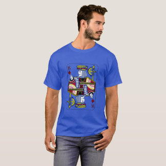 """Camiseta """"Rei t-shirt dos azuis marinhos dos diamantes"""""""