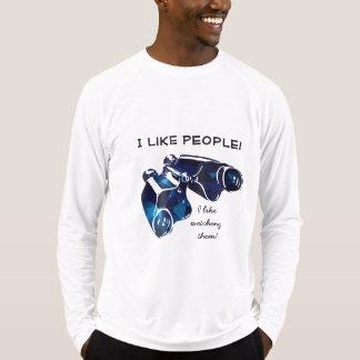Camiseta Reino de binóculos azuis - veja completamente a