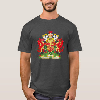 Camiseta Reino do byth de Cymru am da brasão de Wales